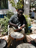 Djembe lessons at Safari Garden