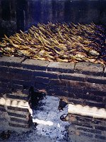Fish smoking at Tanji